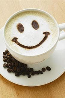Cappuccino mit Smiley